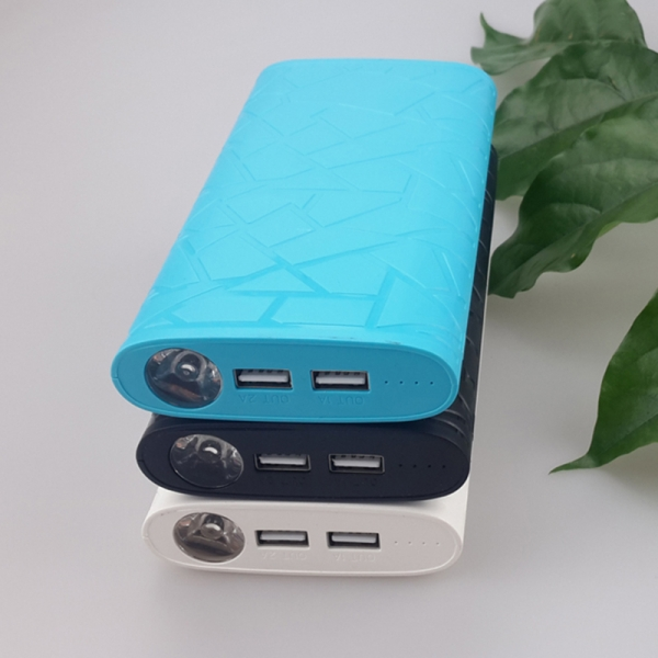 PP113 large capacity power bank toptai custom dual usb power bank multifunctional light power bank