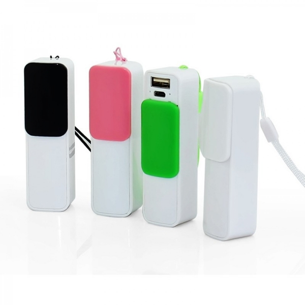 PP008 portable power bank slip cover design 2600mah toptai factory wholesale