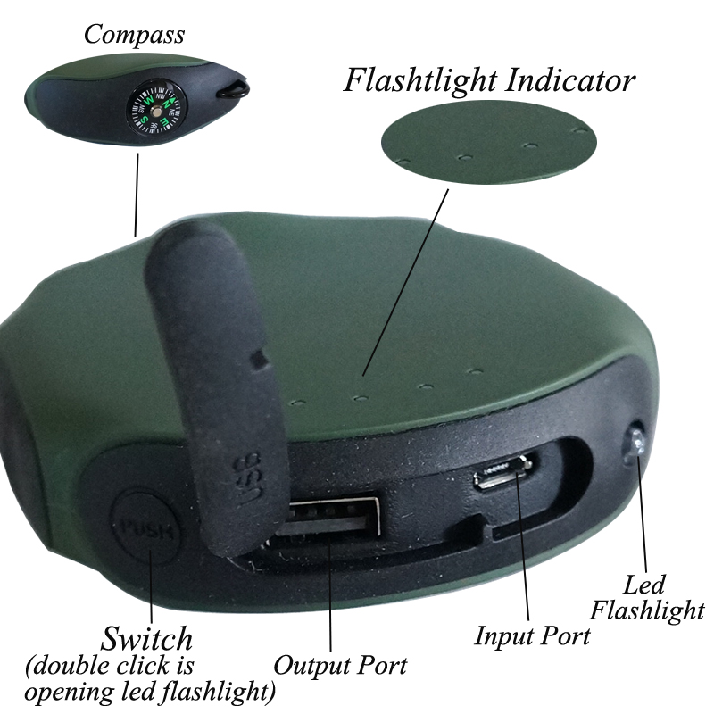 new product compass travel charger power bank with flashlight21