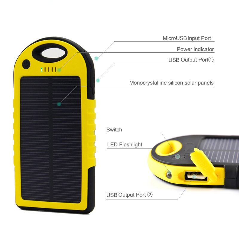 hot selling products for 2016 solar power bank—TOPTAI 2