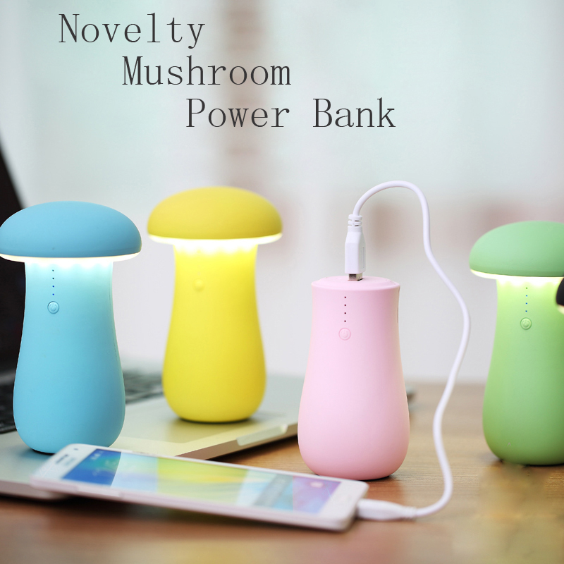 new products for 2016 mushrooms power bank 7800mah—TOPTAI 27