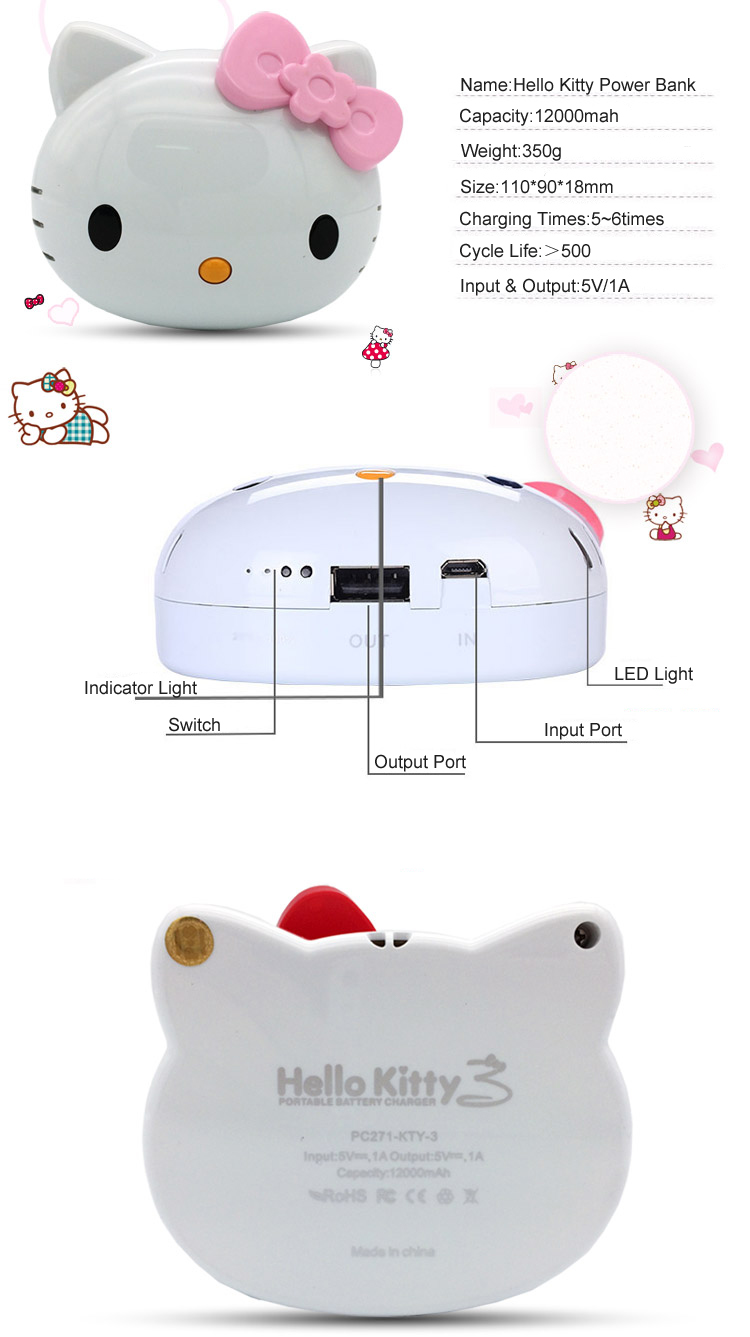 cartoon hello kitty power bank-TOPTAI 22