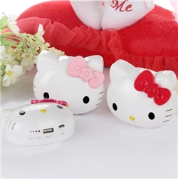 Hot selling large capacity cartoon hello kitty power bank 12000mah supply