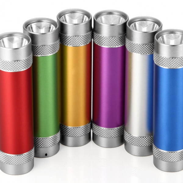 Mini 2600mAh Portable External Battery Charger with Build-in Flashlight