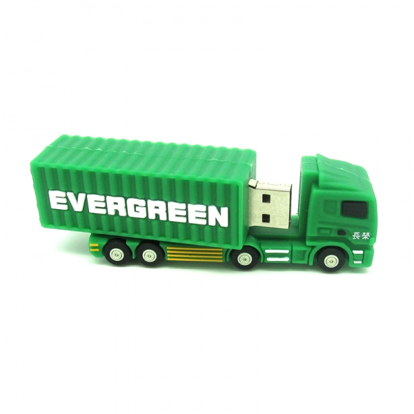 mini trailer cargo truck USB Flash Drive green Container car Pen Drive 32GB 16GB 8GB