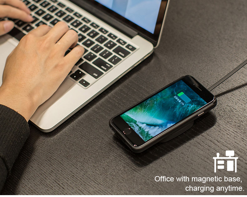 mobile phone portable magnetic Qi wireless power bank charger