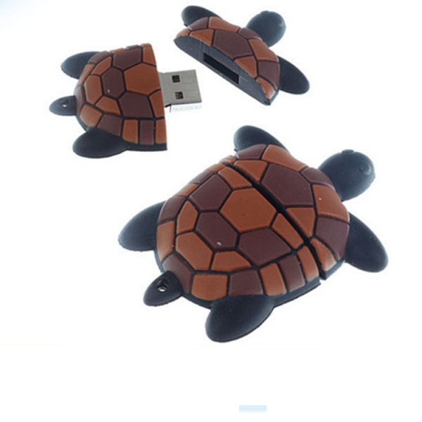 Wholesale USB Pen drive, PVC Cartoon Tortoise pendrive 4gb 8gb 16gb 32gb Turtle usb flash Memory Stick pen drive