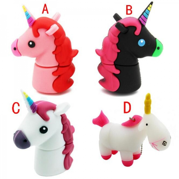 Unicorn Shape Design 16GB USB 2.0 Flash Drive Cute Memory Stick Pendrive Gift