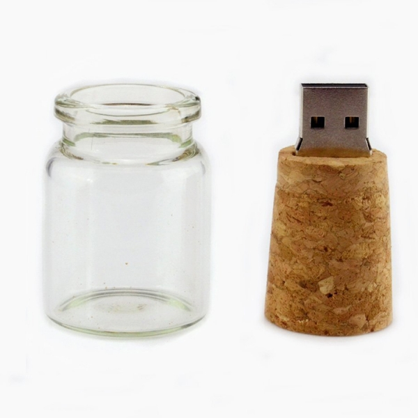 Fancy glass bottle usb flash ...