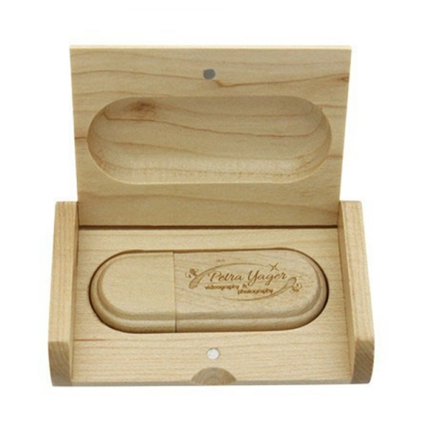 USB Flash Drive 8GB 16GB 32gb wooden pendrive With Gift Box USB Memory Stick